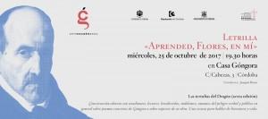 Letrilla «Aprended, Flores, en mí» @ Casa Góngora | Córdoba | Andalucía | España