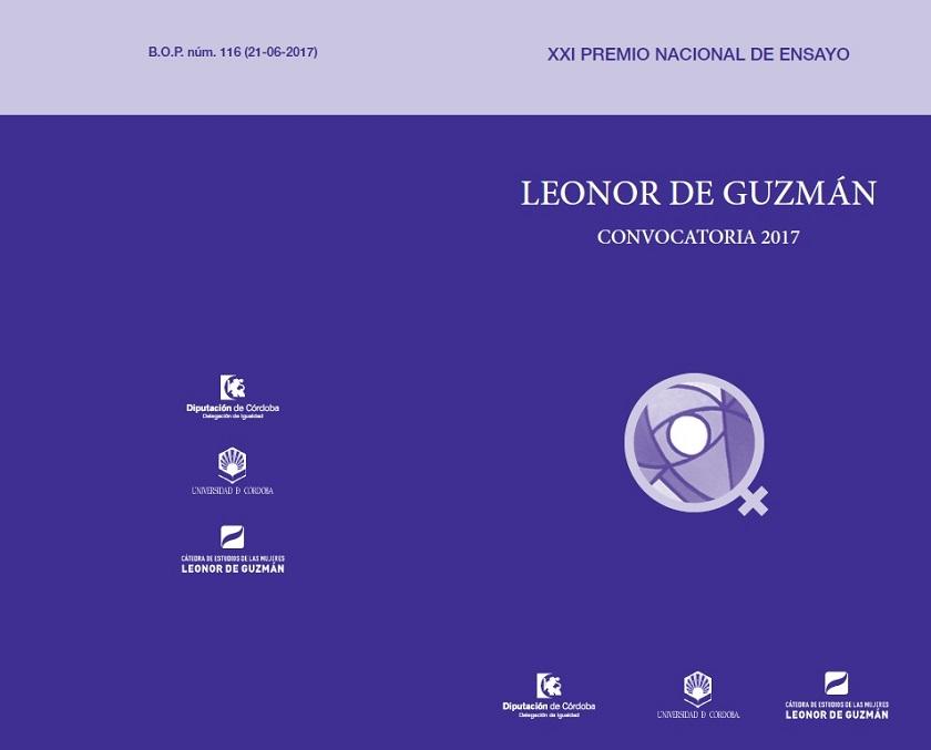 "Convocatoria: XXI Premio Nacional de ensayo ""Leonor de Guzmán""."