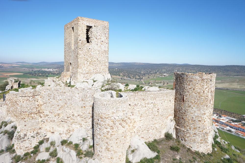 Vista del exterior del Castillo de Belmez 1. ZNIR Sensing Soltions para ©Proyecto ager Mellariensis