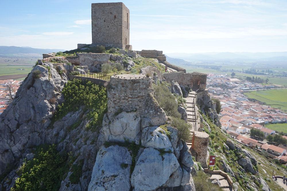 Vista del exterior del Castillo de Belmez 2. ZNIR Sensing Soltions para ©Proyecto ager Mellariensis