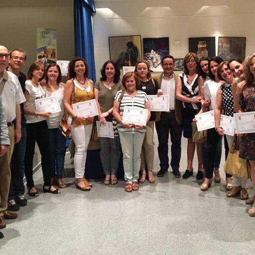 Acto de clausura de los cursos de inglés y francés del curso académico 16-17 de la Escuela Municipal de idiomas de Baena