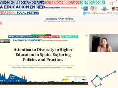 Comunicación sobre políticas y prácticas de atención a la diversidad en las universidades españolas, presentada en el XVII Congreso Nacional y IX Iberoamericano de Pedagogía (online, 7 julio 2021)