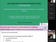 Difusión de resultados del proyecto I+D en el IV Congreso Internacional de Trabajo Social (CIFETS 2021, 14-16 julio)