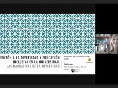 Curso de doctorado 'Atención a la diversidad y educación inclusiva en la universidad: las narrativas de la diversidad' (Universidad de Jaén, 22 de junio 2020)