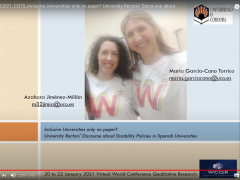 Participación en 5th World Conference on Qualitative Research (WCQR) (22 enero 2021)