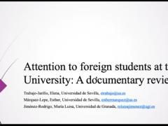 Paper sobre atención al estudiantado extranjero en la universidad, presentado en el WERA Focal Meeting (online, 8 julio 2021)