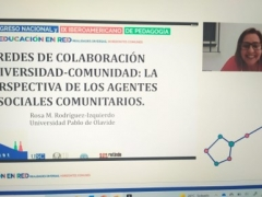 Ponencia sobre redes de colaboración universidad-comunidad en el XVII Congreso Nacional y IX Iberoamericano de Pedagogía (online, 8 julio 2021)