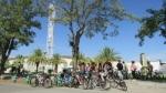 Partipantes en la ruta ciclista organizada por el SEPA dentro de la semana de la movilidad