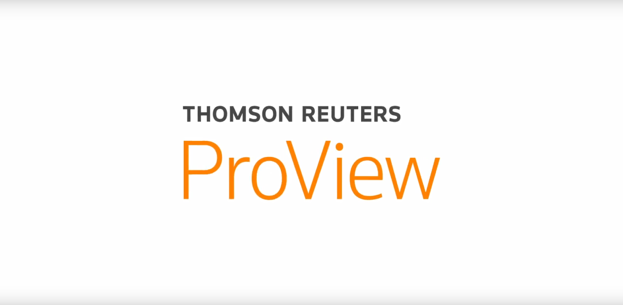 thomson and reuters proview