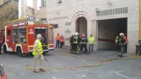 Los equipos de emergencia, durante el simulacro