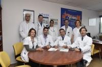 En la foto, los investigadores que han realizado el ensayo clínico