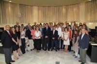 Integrantes del nuevo Consejo de Gobierno que se ha constituido esta mañana