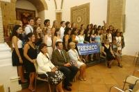 Los alumnos de Preshco posan tras la recepción