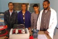 Alumnos del taller de electricidad
