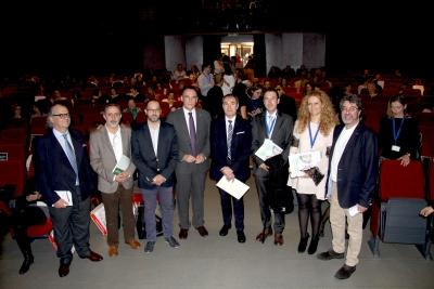 Autoridades asistentes al acto inaugural del congreso sobre Educación Bilingüe que se celebra en Córdoba