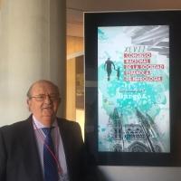 Imagen del profesor Varcárcel en el congreso sobre nefrología