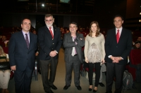 De izq. a dcha. Francisco Triguero, Jose Manuel Roldán,Juan José Moreno, Sol Calzado y Jose Carlos Gómez