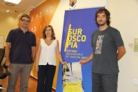 Pablo García Casado, Rosario Mérida y Pablo Rabasco durante la presentación