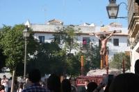 El Cristo de la Universidad durante su recorrido el pasado martes
