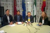 Un momento de la presentación de la tesis hoy en el Ayuntamiento de Baena