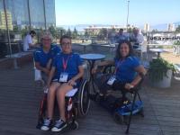 Alumnas de la UCO de natación adaptada en  Croacia.