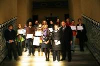 Autoridades académicas y personas galardonadas