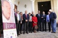 Autoridades presentes en el acto de inauguración del II Congreso Internacional Antonio Gala, entre ellas la secretaria general de la UCO, Carmen Balbuena (tercera por la izquierda).