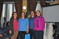 De izq a dcha: Maria Rosal, Laura Franco, Javier Fernández y Carmen Blanco