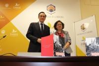 El rector y la vicerrectora de Investigación en la presentación de la Memoria