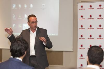 Mariano Chacón durante la presentación del dispositivo