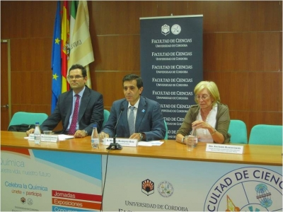 DE izq a dcha, Alberto Marinas, Manuel Blázquez y Ana Isabel Blanch