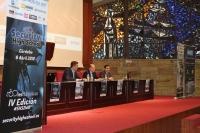 De izda. a dcha. Eduardo Toril, Antonio Cubero, Antonio José López Fernández en la inauguración de las jornadas