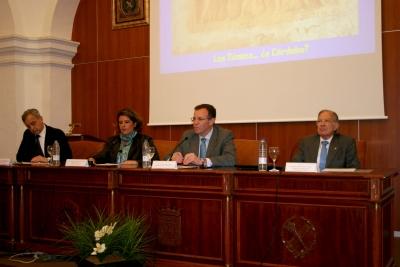 De izquierda a derecha, Enrique Melchor, Mª Carmen Balbuena, Eulalio Fernández y Miguel Rodríguez-Pantoja.