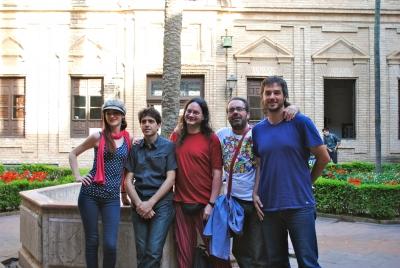 De izquierda a derecha, Carmen Camacho, Antonio Romero, Alberto García Teresa, Ángel Calle y Pablo Rabasco