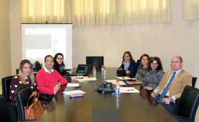 El jurado con integrantes de la Unidad de Igualdad de la UCO