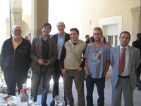 De izqda. a dcha. Gerardo Pedrós, Antonio Gomera, Manuel Vaquero, Javier Herreros, Alejandro Peinazo y Francisco Villamandos