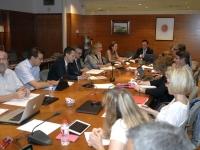 Un momento de la reunión del consejo rector de la RED, presidida por el rector José Carlos Gómez Villamandos