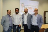 De izquierda a derecha, Librado Carrasco, Néstor Guerra, Enrique Quesada y Rafael Linares en la inauguración del workshop.