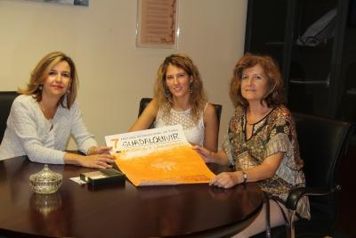 A la izquierda, la vicerrectora Rosario Mérida, con responsables del FIP Guadalquivir