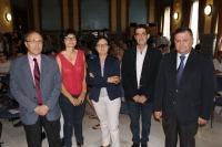 De izquierda a derecha, José Manuel de Siles, Amparo Permichi, María Teresa Roldán, José Alfonso Gómez Calero