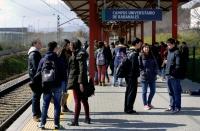 Imagen del apeadero del Campus de Rabanales