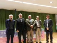 De izquierda a derecha: Carlos Diéguez, Francisco Gracia, Rafael de Cabo, Manuel Tena-Sempere y Justo P. Castaño