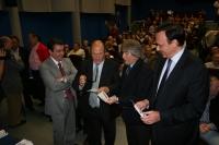 De izq a dcha, Federico Navarro, Fosforito, Luis de Córdoba y Jose Carlos Góez momentos antes de iniciarse el acto