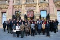 Imagen de la concentración celebrada en el Rectorado contra la violencia de género