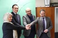 De izquierda a derecha, Milagrosa Gómez, José Carlos Gómez Villamandos, Manuel Carmona y Rafael Ruiz.
