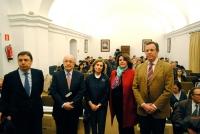 De izq a dcha, Luis Planas, Joaquin Almunia, Maria Dolores Muñoz, Carmen Balbuena y Eulalio Fernández