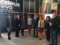 Miembros de la CRUE en la inauguración de la exposición Campus Vivo