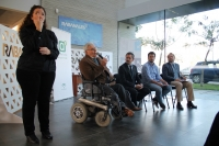 De izq a dcha, sentados, Antonio Hermoso (Fepamic), Paco Rincón (Signlab), Elías Cabrera (Down Córdoba) y Juan Antonio González (Aprosub)