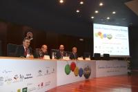 De izquierda a derecha, Haizam Amirah Fernández, Shlomo Ben Ami, Manuel Torres Aguilar y Mustafa Barghouti
