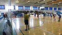 Un momento del encuentro de balonmano entre la UCO y la UGR